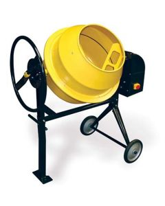 """Electric Cement Mixer, 2/3 HP Motor, 3.5 Cubic Feet, 15"""" Diameter Drum Opening, with Wheels"""