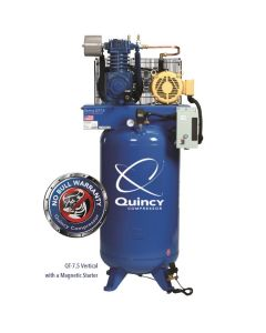 Quincy QT 7.5-HP 80 Gallon Two-Stage Air Compressor (230V-1-Phase)  Vertical  PRO