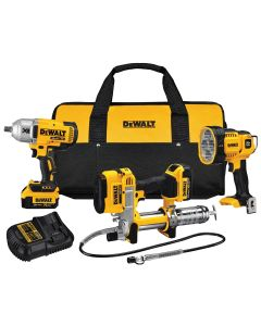 DeWalt 20V MAX Li-Ion 3-Tool Combo Kit (DCGG571/DCF899H/DCL043)