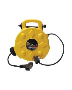 Bayco 50ft Retractable Polymer Cord Reel with 3 Outlets - 13 Amp