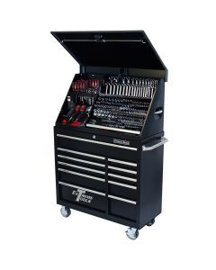 41 in. Extreme Portable Workstation/Roller Cabinet Combo, Black