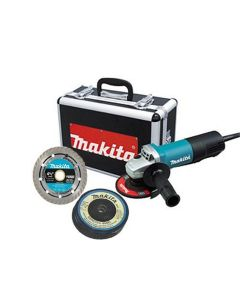 """4-1/2"""" Paddle Switch Cut-Off/Angle Grinder w/ Diamond Blade and (4) Grinding Wheels"""