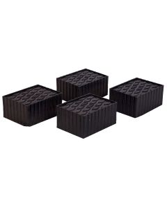 """Set of Four 3"""" Tall Flat Polymer Adapters"""