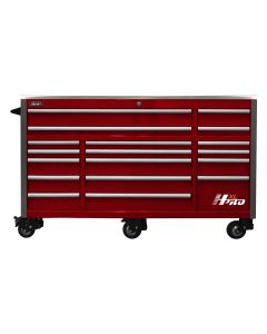 72 in. HXL 17-Drawer Roller Cabinet - Red