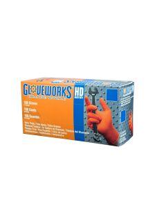 Gloves Gloveworks HD Orange Nitrile XXL