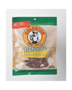GOLDRUSH Goldrush Natural Honey 2.85 oz. Beef Jerky, MSG FREE