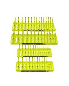 Hansen Global Hi-Viz 4-Pack Socket Holder, Yellow