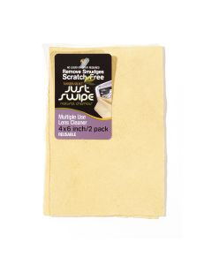 """4"""" x 6"""" Natural Chamois Just Swipe Lens Cleaner (Pack of 2)"""