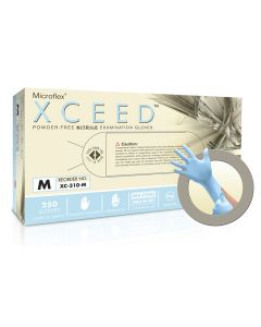 Microflex XCEED XC-310 Nitrile Gloves - Disposable, Non-Latex, Powder Free, Size Medium (Pack of 250)