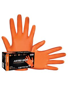 Box of 100 Astro-Grip Dual-Sided Scale Grip Latex-Free Disp. Gloves, M