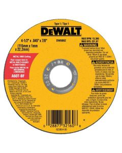 "DeWalt 4.5"" HP Type-1 Metal Cutting Wheel (Each)"