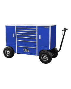"""70"""" 7 Drawer/2 Compartment Pit Box, Blue"""