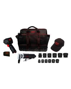 1/2 in. Drive Mighty Seven Air Tool Kit With Tool Bag And Two 6 Piece Mini Impact Sets