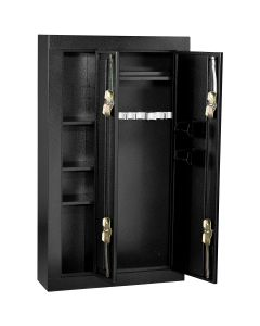 Homak Mfg. 8 Gun Double Door Steel Security Cabinet, Black