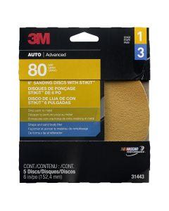 "6"" 3M Stikit Gold Disc - 5 Discs per Pack"