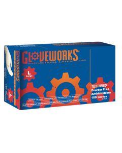 L Gloveworks Powder Free Textured Latex Gloves