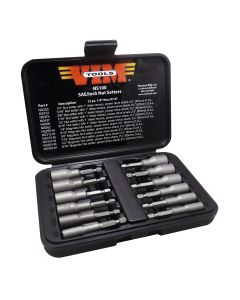 12-Piece SAE Power Drive Nut Setter Set with Magnetic and Hollow Point Drivers