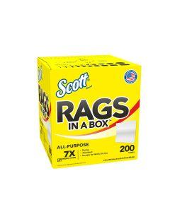 Scott Rags in a Box 200-ct, White