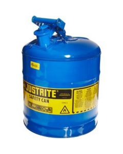 Blue Metal Safety Can, Type 1, Five Gallon Capacity, for Kerosene and Other Flammable Liquids