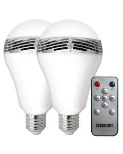 LED Light Bulb with Bluetooth Speaker (2-Pack)
