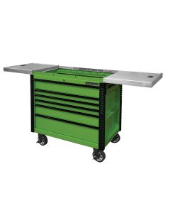 41IN 6 Drawer Slide Top Tool Cart, Lime Green