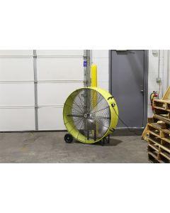"42"" Belt Drive Industrial Drum Fan, Safety Yellow"