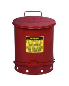 OWC Foot Red - 14 gallon oily waste can with lever