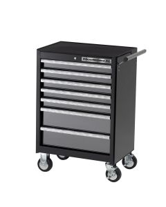 GearWrench 26 in. 7-Drawer Bottom Roller Cabinet, Black/Silver