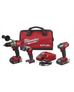 M18 FUEL 3PC Auto Drill, Impact Wrench & Light Kit