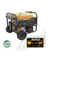 "10000/8000 Watt 50A 120/240V Remote Start Gas Portable Generator CARB Cert w/ 10"" Power Cord"