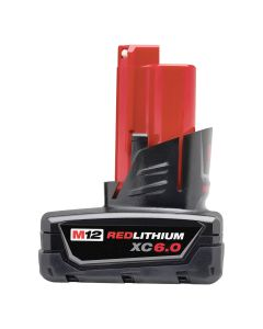 M12 12V Lith-Ion XC 6.0Ah Battery Pack, Ext. Capacity