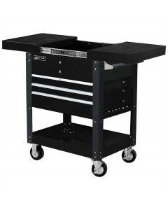 Homak Mfg. 35 in. Pro Series 4-Drawer Slide-Top Service Cart, Black