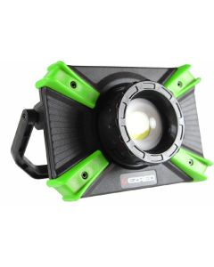 EZ RED Micro-USB 1000 Lumen Rechargeable Work Light, Black/Green