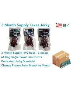 3 Month Qty. of TEXAS JERKY (Flavors of Choice)
