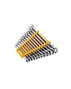 12 Pc. 90T 12PT Metric Flex Combi Ratchet Wre Set