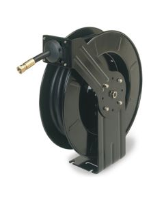 "Workforce Retractable Oil Hose Reel, Open Face, Single Axle Arm, 1/2"" x 50'"