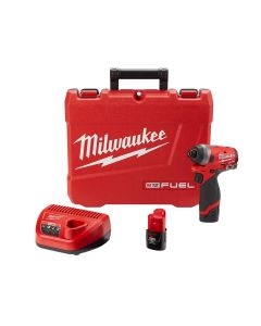 "M12 FUEL 1/4"" Hex Impact Driver w/ (2) Batteries Kit"