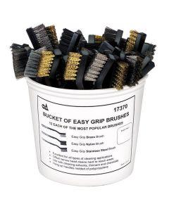 Bucket of Easy Grip Brushes