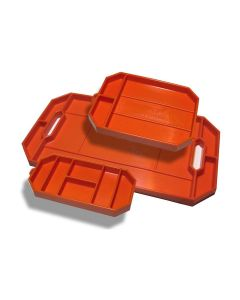 Grypmat 3-Pack Flexible Non-slip Tool Trays, Bright Orange (Small/Med/Large)