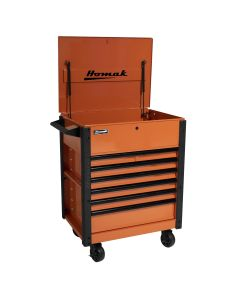35 in. Pro Series 7-Drawer Service Cart, Orange