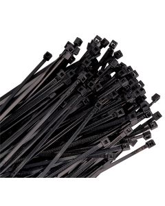 CABLE ZIP TIE, 14IN. BLACK 100/PK 120LB TENSILE