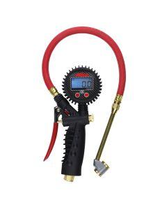 Digital Inflator Gauge with Large Bore Dual Head Chuck