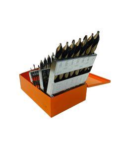 "29-Piece Mechanics Length Step Point Drill Bit Set 1/16""-1/2"" by 64ths"