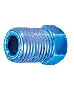 M10 x 1.0 Blue Inv Flr Nut 4pk