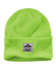 6806 Lime 6806 Cuffed Rib Knit Beanie Hat