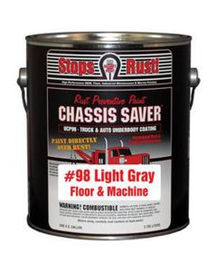 Chassis Saver Paint, Stops and Prevents Rust, Gray, 1 Gallon Can