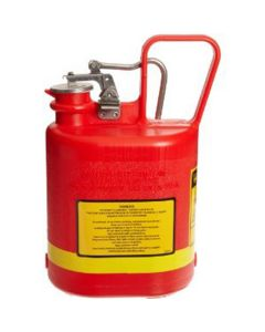 Gas Can, Safety, 1 Gallon, Plastic