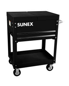 Sunex Tools Compact Slide Top Utility Cart, Black