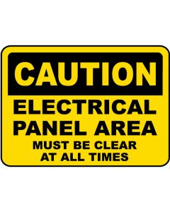 Electrical Panel Caution Label