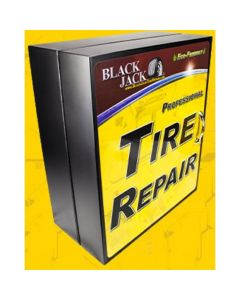HD Truck Repair Patches in Metal Cabinet